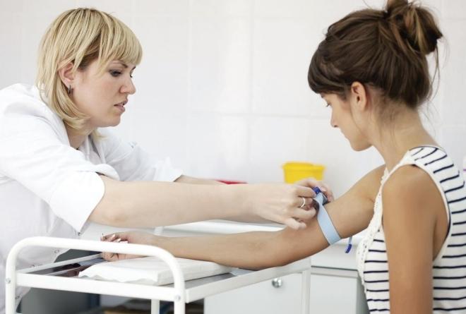 Взятие крови на анализ
