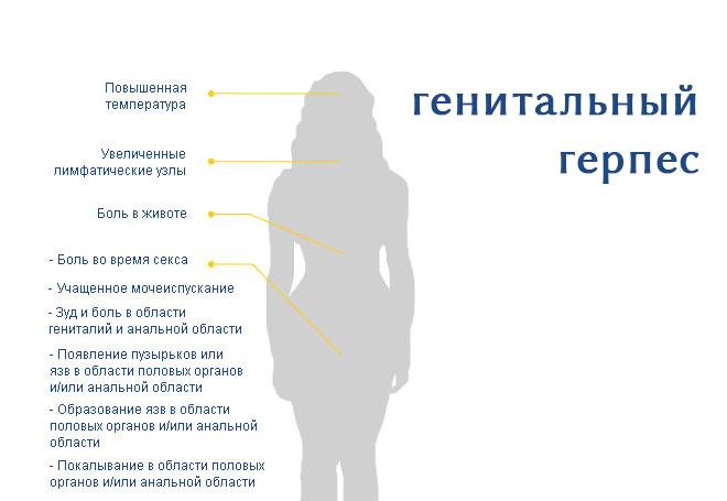 генитальный герпес у женщин фото симптомы